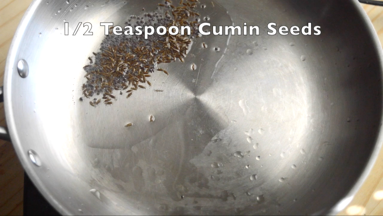 tablespoon of oil add mustard seeds and cumin seeds and allow it to ...