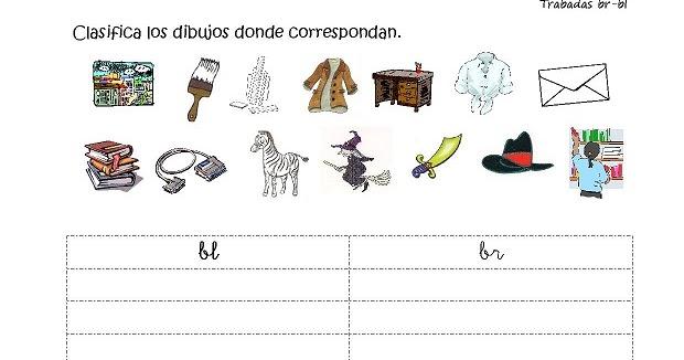 Dibujos Con La Trabada Br: Cositas De AL Y PT: Trabadas Br-bl