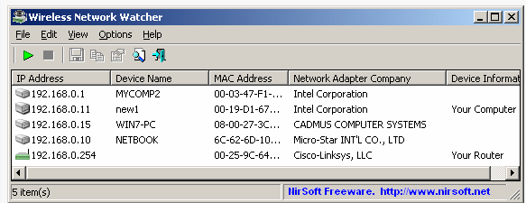 Wireless Network Watcher 2.15