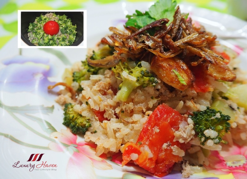 how to cook whole tomato rice with broccoli