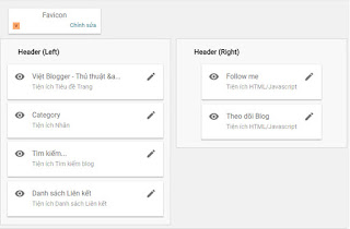 Sử dụng tiện ích widget trong thiết kế template
