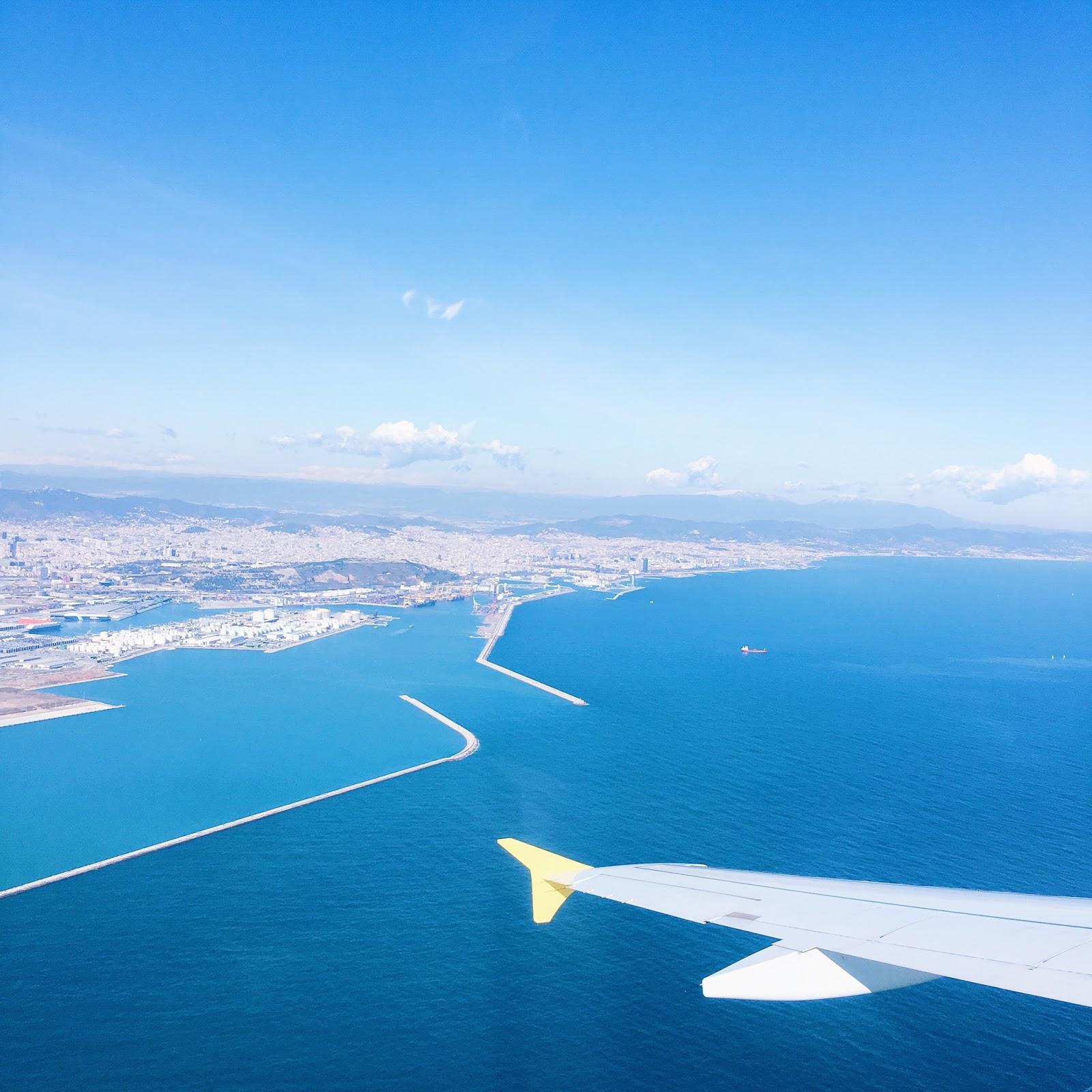 Barcelone vue avion