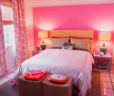 habitación matrimonial rosa