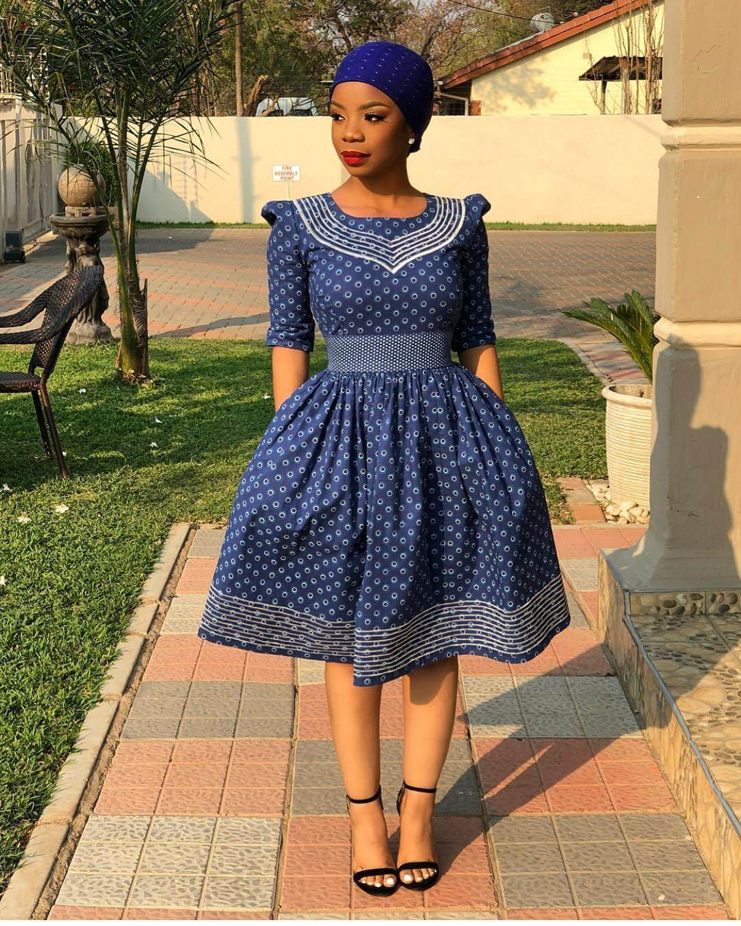 Cinderella Shweshwe Dress: 29 Traditional African Shweshwe Dresses Styles For Women