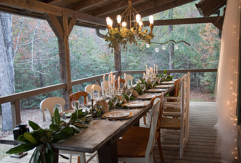 So Welcome To Miles And Erikau0027s Elegant Rustic Winter Wedding Reception At  Hood Creek Log Cabin!