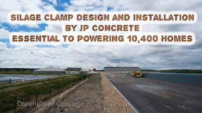 Image shows a JP Concrete silage clamp design.