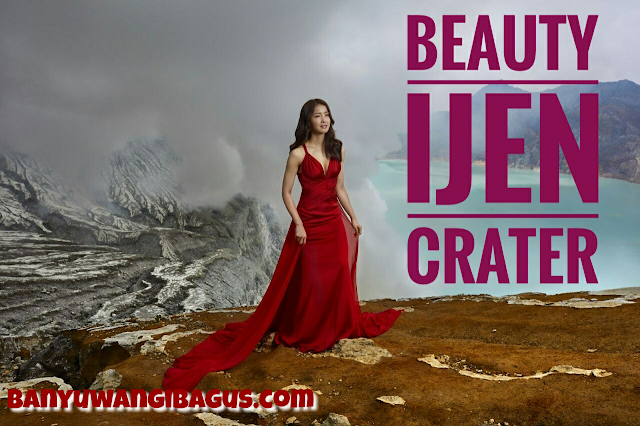 Lee Si Young di Kawah Ijen