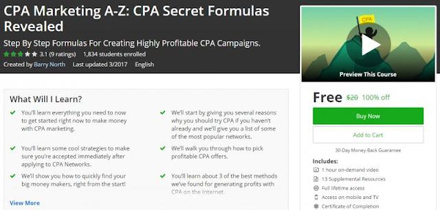 [100% Off] CPA Marketing A-Z: CPA Secret Formulas Revealed| Worth 20$