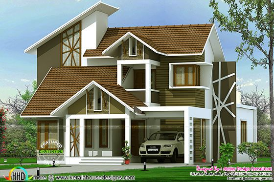 Contemporary house with free plan
