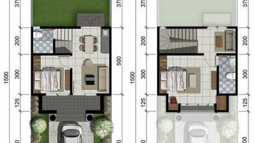 Desain Kamar Tidur Minimalis Ukuran 5x4  lingkar warna denah rumah minimalis ukuran 6x15 meter 2