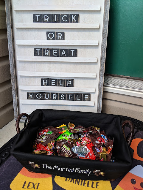 trick or treat, Halloween, personalized decor, fall decor, candy basket, Halloween decor, home decor