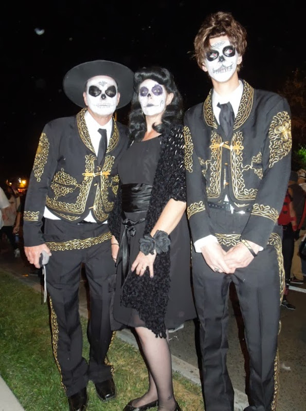Day of the Dead costumes West Hollywood Halloween Carnaval