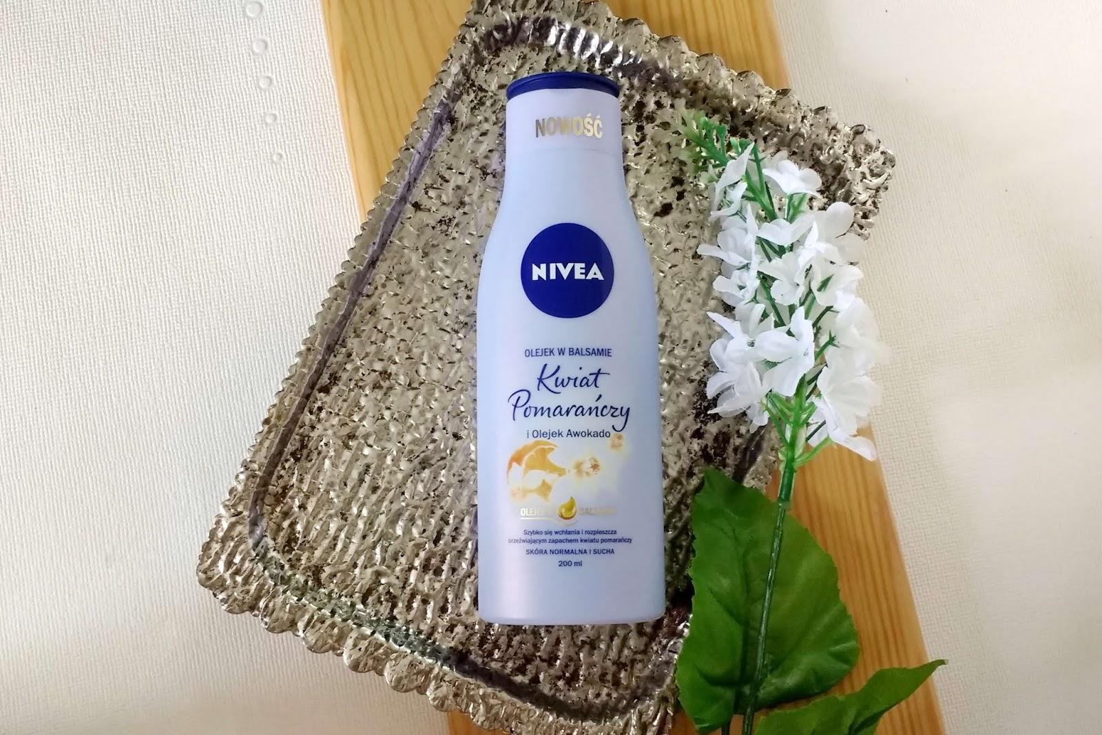Nowość od Nivea | Olejek w balsamie kwiat pomaranczy i olejek awokado {Recenzja}