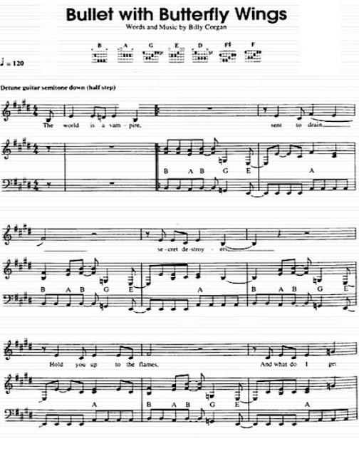 Partitura Piano Smashing Pumpkins