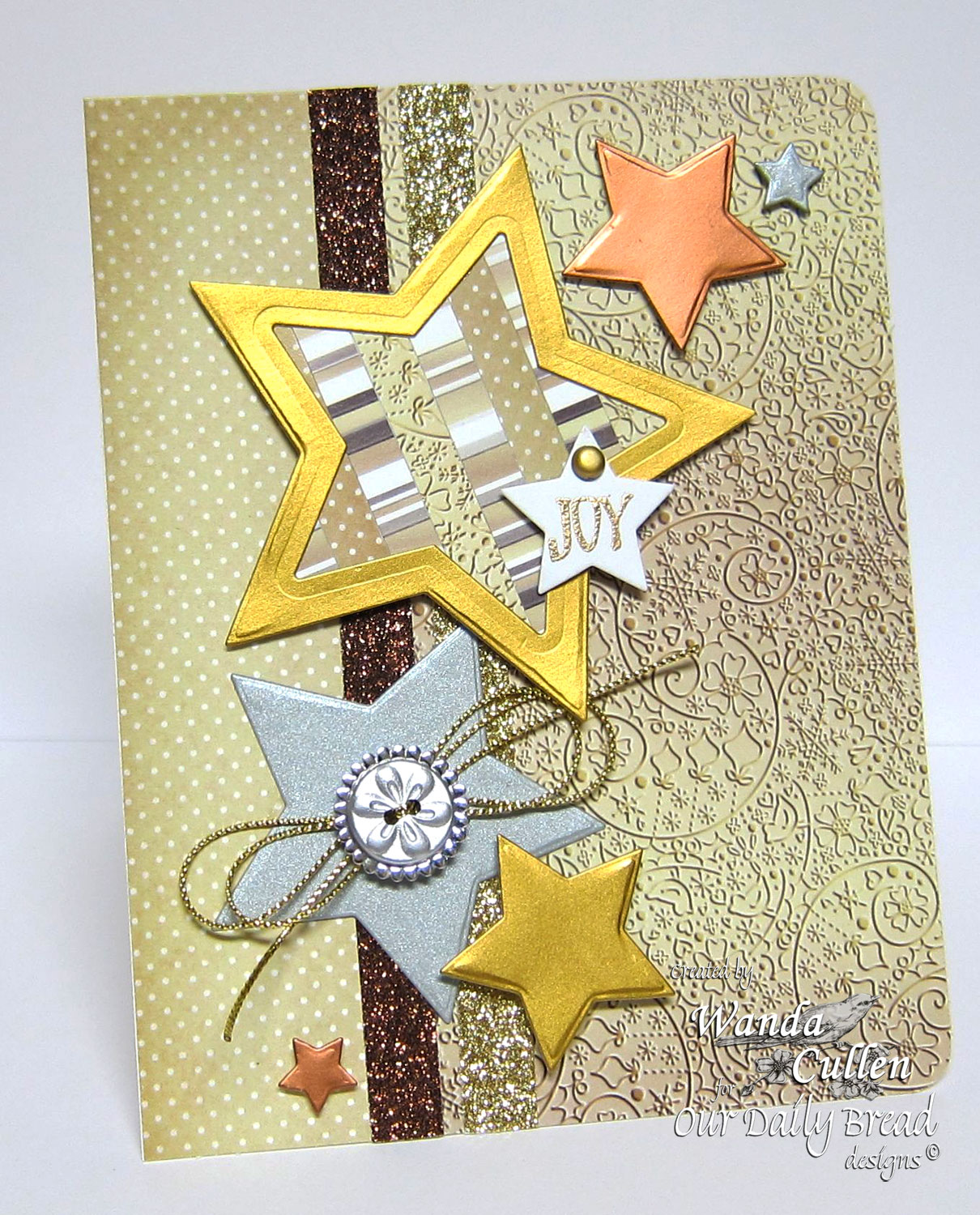 Stamps - Our Daily Bread Designs His Birth, ODBD Winter Paper Collection 2014, ODBD Custom Sparkling Stars Dies