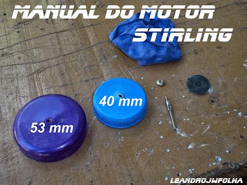 Manual do motor Stirling, tampas com medidas usadas para fazer o pistão de trabalho