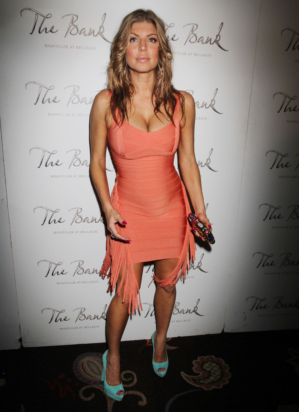Fergie Flaunting Her Stubborn Hot Body In A Very Tight Dress