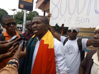 Guinée : Kindia, les forces sociales de Guinée manifestent pour exprimer leur ras le bol par rapport à l'augmentation du prix du carburant 1
