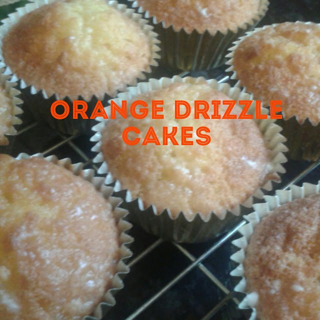 Orange drizzle cakes recipe