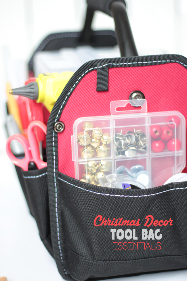 Christmas decor tool bag essentials