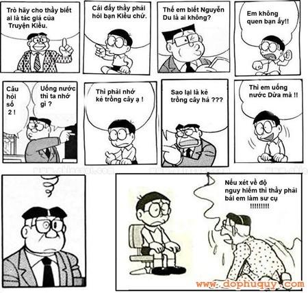 Tranh chế vui ngày giáo viên Việt Nam
