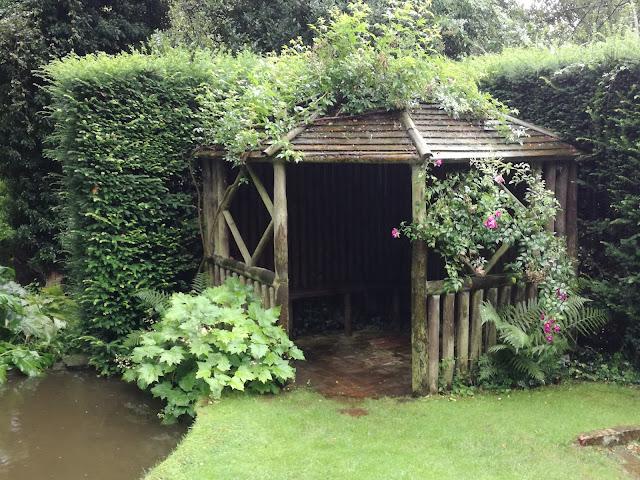 Bog Garden, altana drewniana, ogród angielski