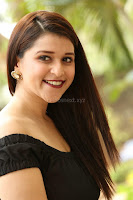 Mannara Chopra in Short Off Shoulder Black Dress ~  Exclusive 027.JPG