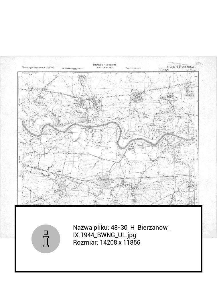 Mapa WIG licząca 20 MB otwarta w aplikacji Galeria na czytniku PocketBookm Touch Lux 4
