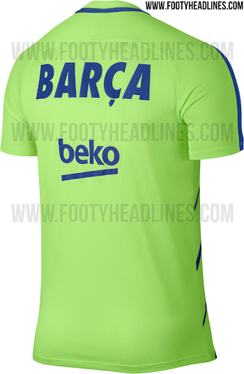 new concept c10f1 8d797 Ghost Green Barcelona 2017 Pre-Match and Training Kits ...