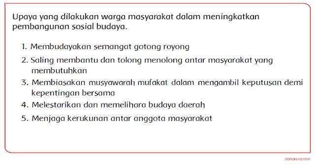 Masyarakat Indonesia yang hidup tersebar di banyak sekali wilayah Indonesia Materi Sekolah |  Upaya Warga Masyarakat dalam Pembangunan Sosial Budaya (Halaman 24)