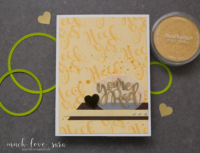 This fun & sunny yellow handmade (DIY) card, is perfectly appropriate for telling that special someone how awesome you think they are.  Created using Fun Stampers Journey Good Stuff Stamp Set | muchlovesara.com