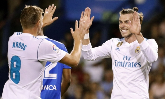 Real Madrid are on top of the standings after beating Deportivo 3-0 away from home.