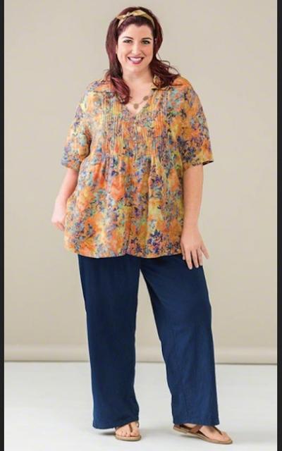 gambar model baju batik untuk orang gemuk
