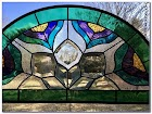 Stained GLASS Arched WINDOW Panels