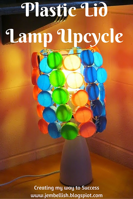 Plastic Lid Lamp Upcycle - a tutorial