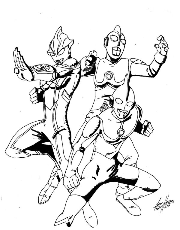 Ultraman Coloring Pages Sketch Coloring Page