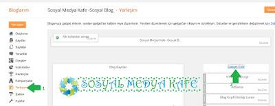Blogger Gadget Ekleme Resimli Anlatım
