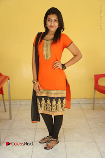 Telugu Actress Chandana Stills in Salwar Kameez at Karam Dosa Movie Press Meet  0103.JPG