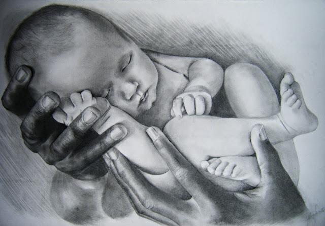 Resultado de imagen de niño recien nacido dibujo