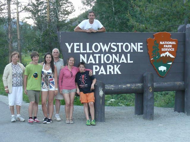 familia en Yellowstone