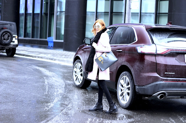 Ford Edge- Blogger Style, Club Monaco Pink Coat