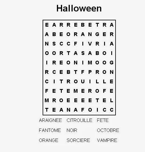 Halloween - wykreślanka 5 - Francuski przy kawie