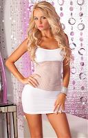 Rochie 25016 white (Pink Lipstick)
