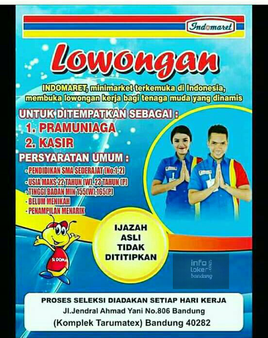 Lowongan Kerja Indomaret Bandung Februari 2017 - Info
