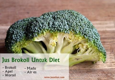 Manfaat brokoli untuk diet dalam segelas jus