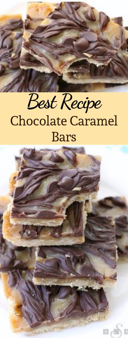 Chocolate Caramel Bars #desserts #cakerecipe