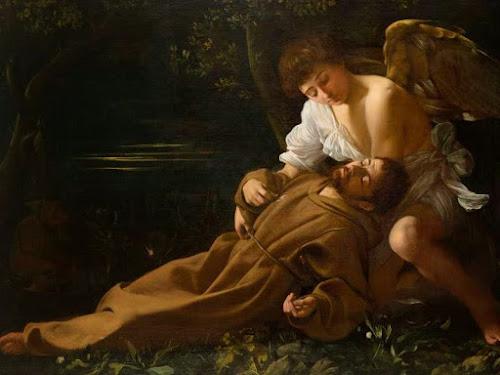 Pintura de São Francisco recebendo os estigmas, feita por Caravaggio