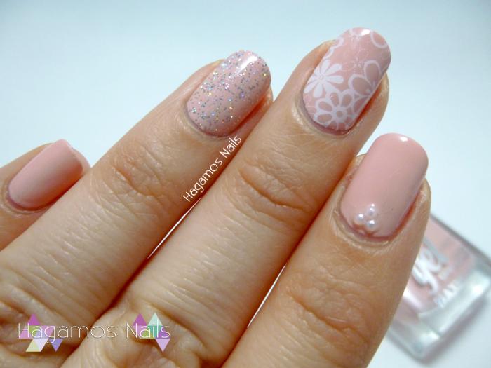 Nail Art Rosa Palo Estampado. Hagamos Nails. Deborah Milano