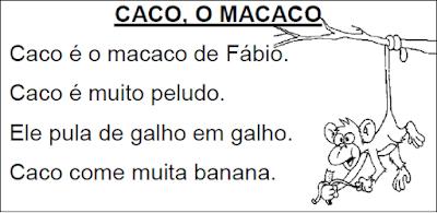 Texto CACO, O MACACO
