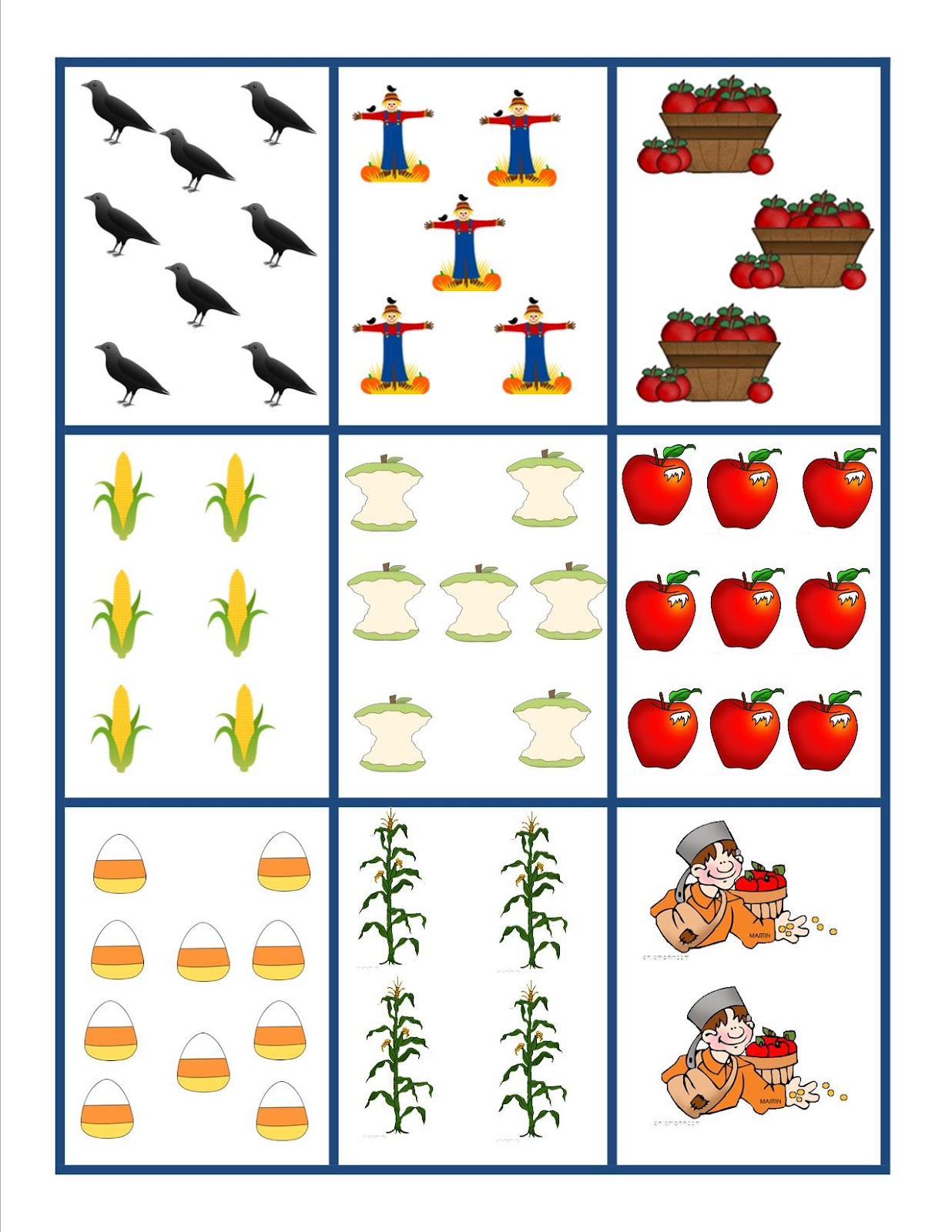 Krazy 4 Kinders Harvest Count Amp Write The Room Freebie
